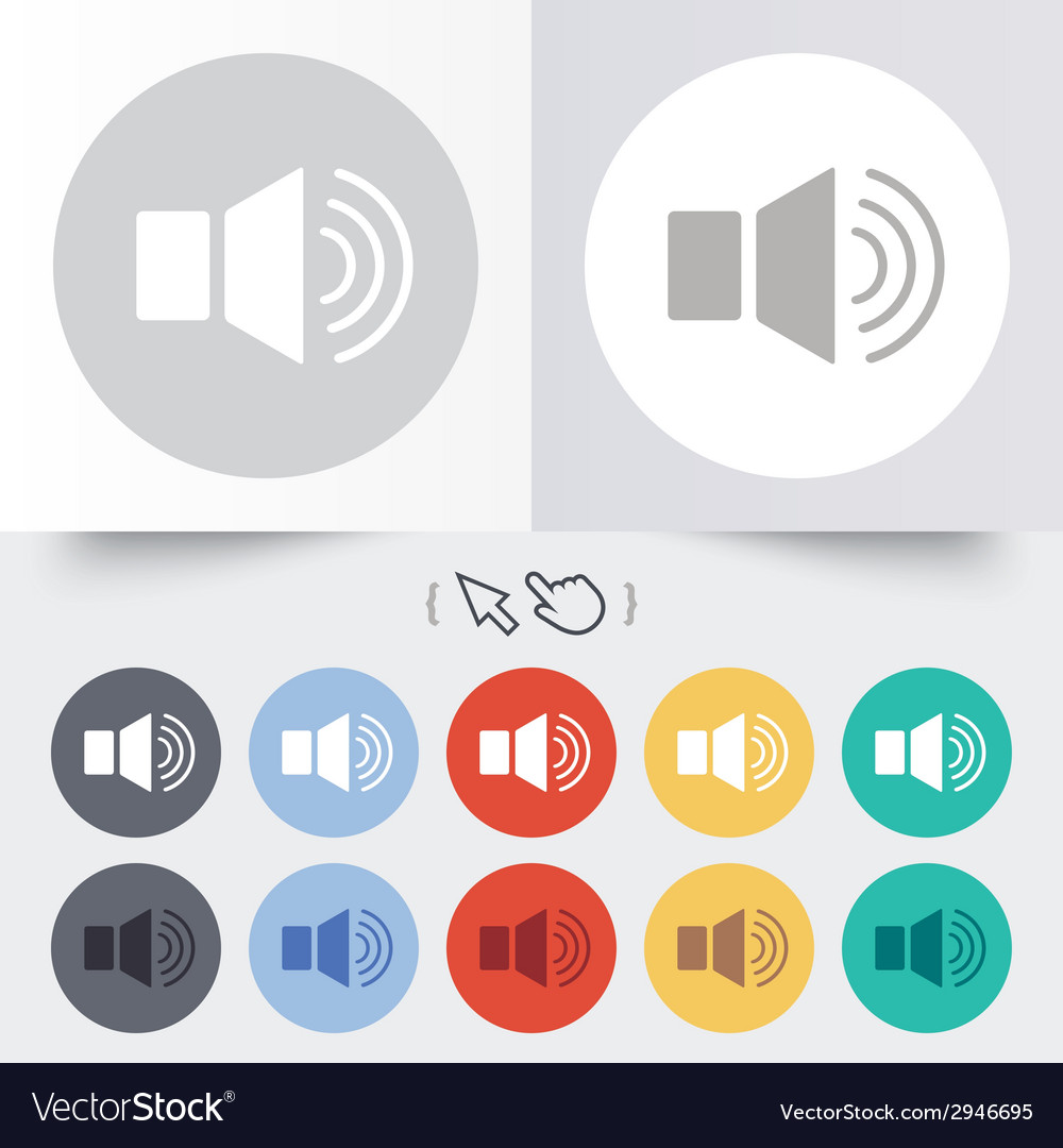 Speaker volume sign icon sound symbol vector | Price: 1 Credit (USD $1)