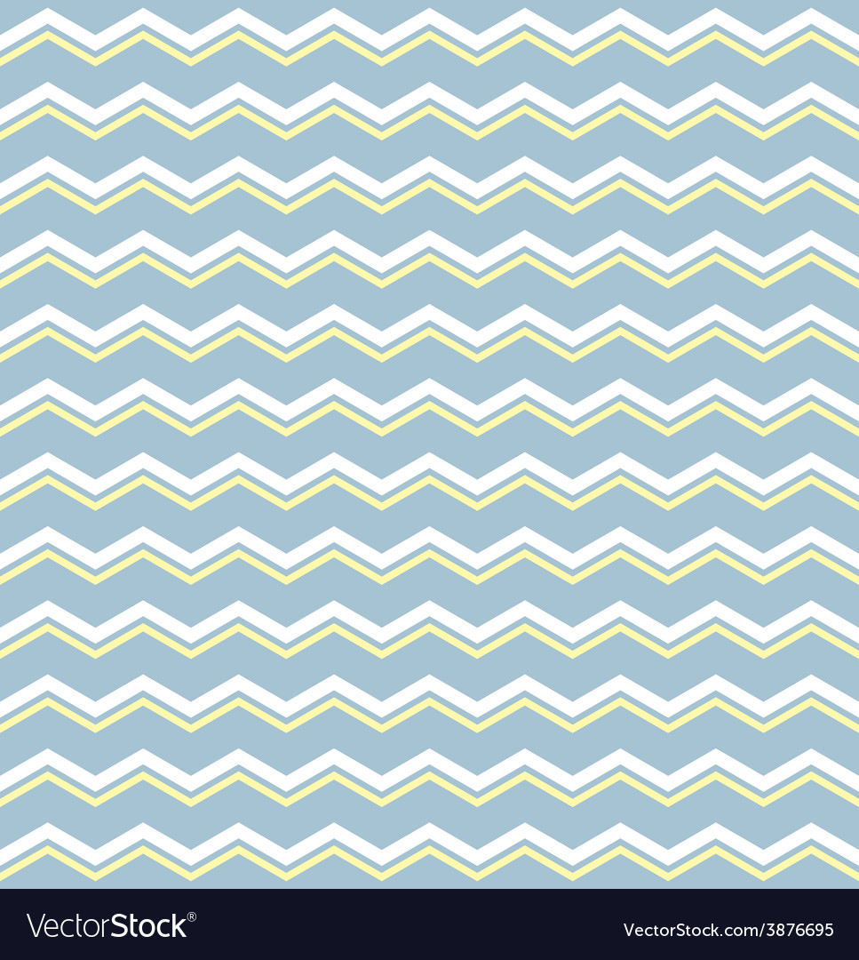 Tile pattern with white and yellow zig zag print vector | Price: 1 Credit (USD $1)