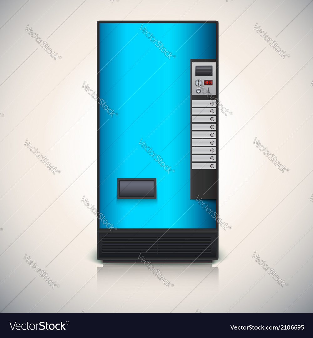 Vending machine for the sale of drinks vector | Price: 1 Credit (USD $1)