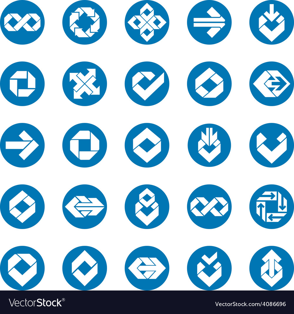 Abstract unusual symbols set creative stylish icon vector | Price: 1 Credit (USD $1)