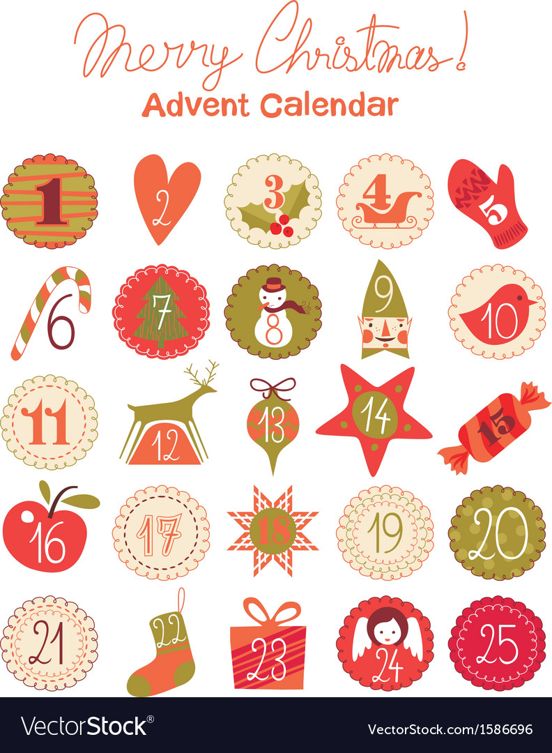 Advent calendar vector | Price: 1 Credit (USD $1)