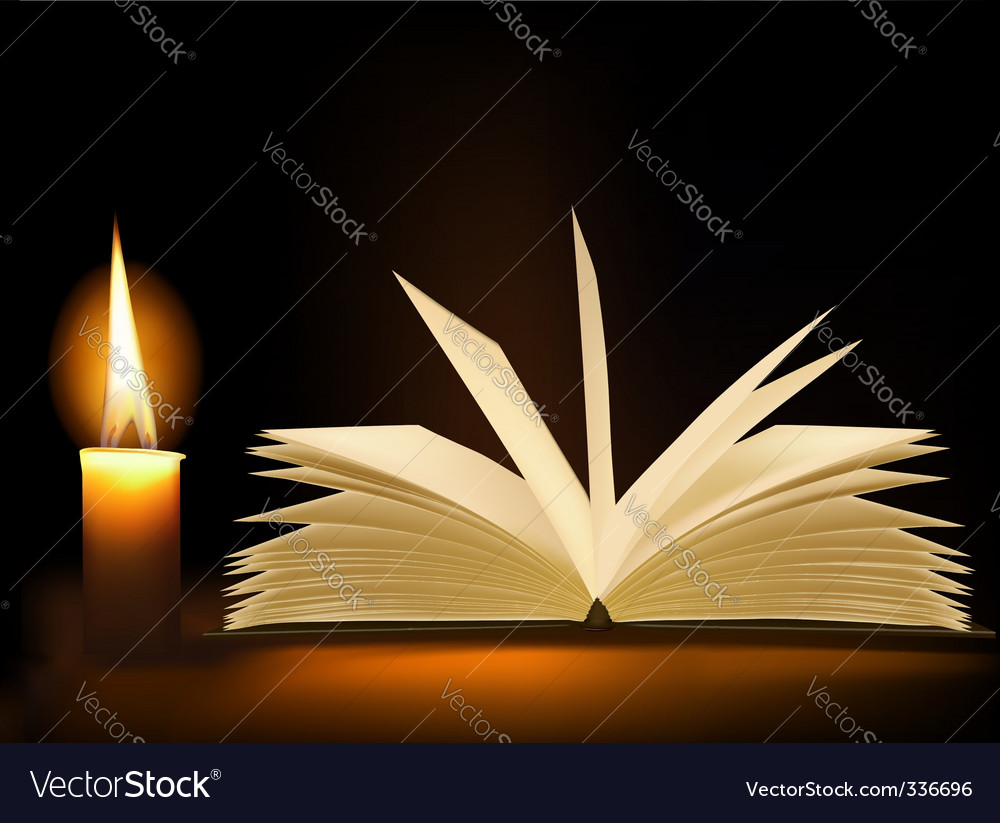 Background with old opened book vector | Price: 1 Credit (USD $1)