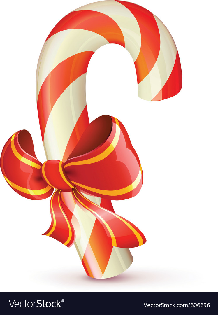 Christmas candy cane vector | Price: 3 Credit (USD $3)