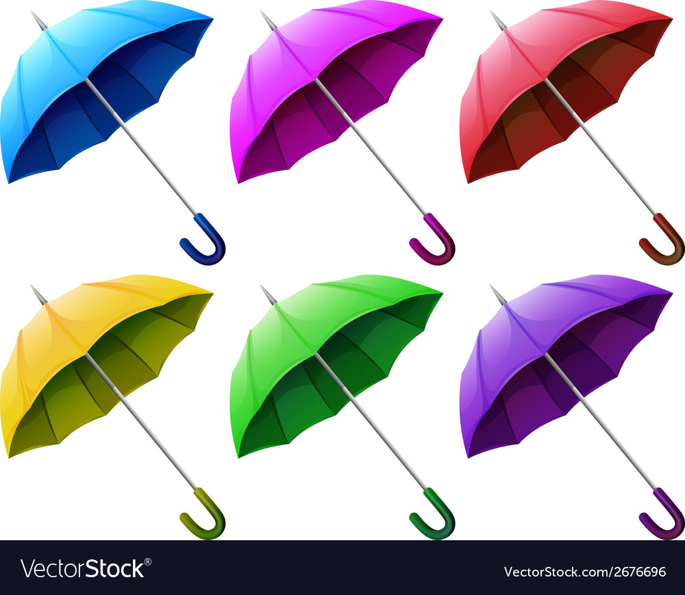 Colourful brollies vector | Price: 1 Credit (USD $1)
