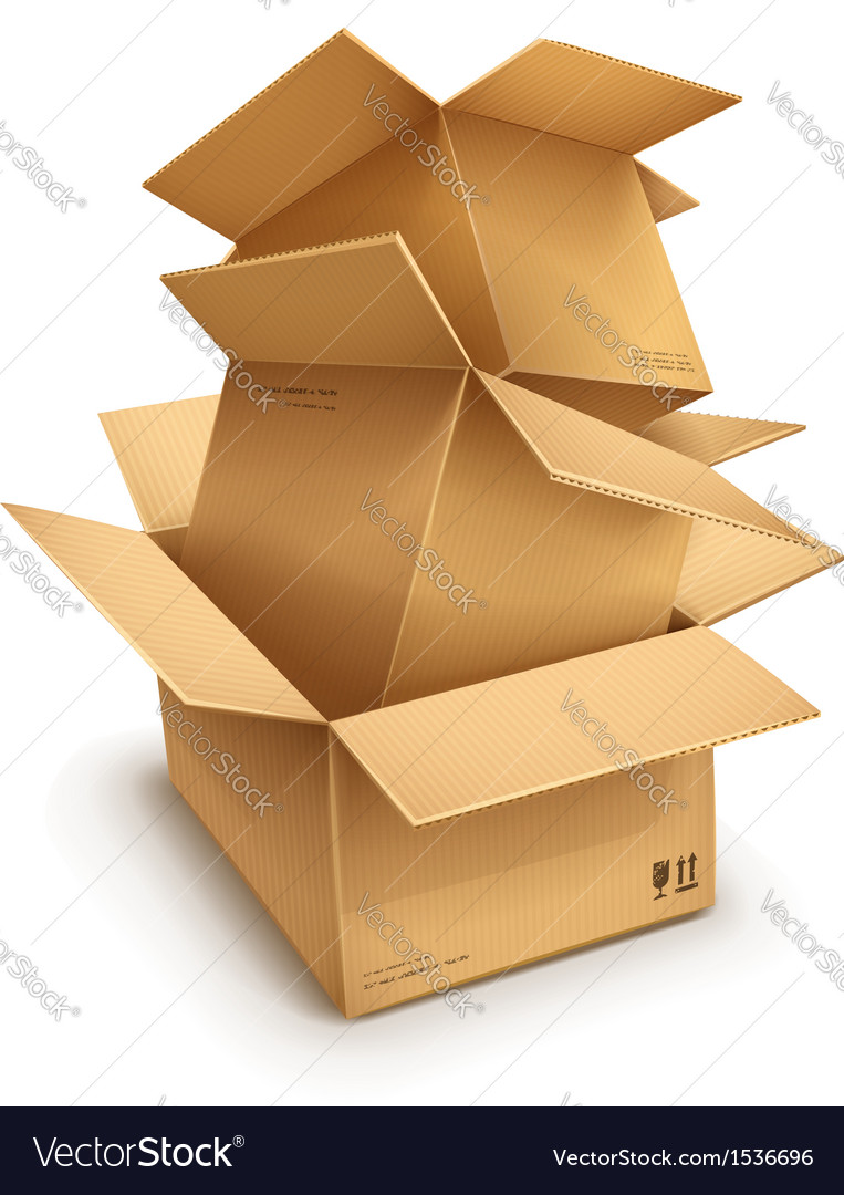 Empty open cardboard boxes vector | Price: 3 Credit (USD $3)