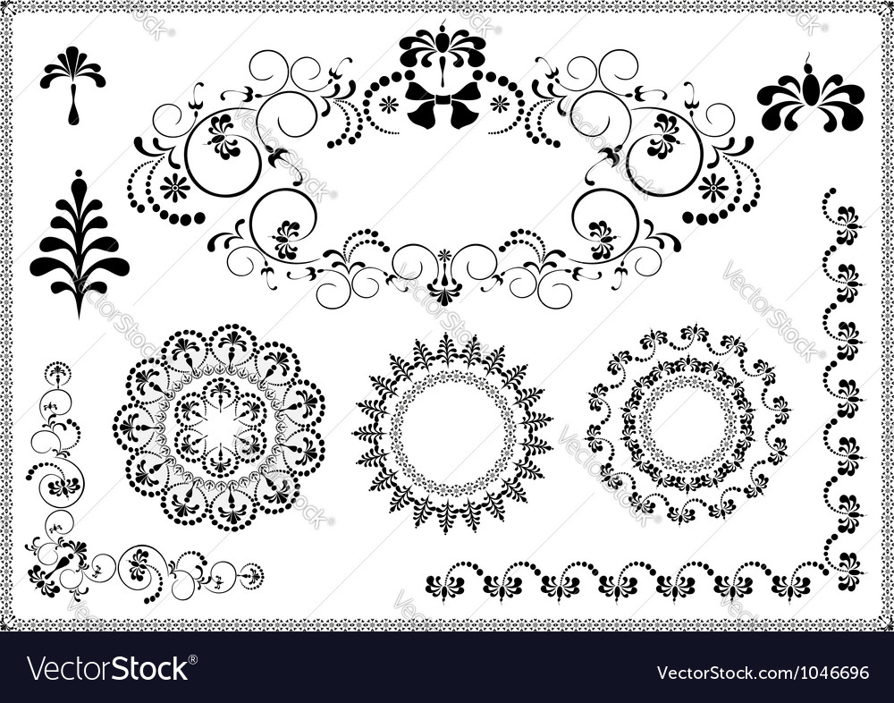Frame and corner of the flourishes vector | Price: 1 Credit (USD $1)