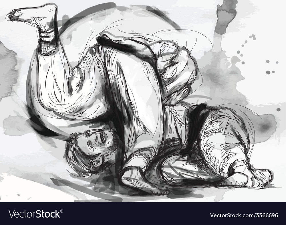 Judo - hand drawn converted into vector | Price: 1 Credit (USD $1)