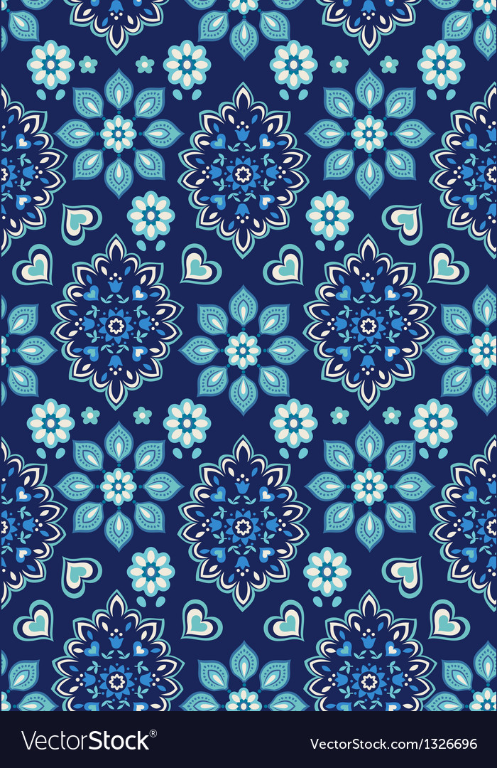 Navy bandana seamless background vector | Price: 1 Credit (USD $1)