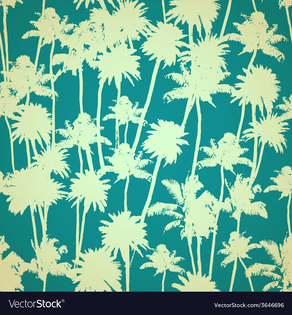 Palm trees seamless pattern vector | Price: 1 Credit (USD $1)