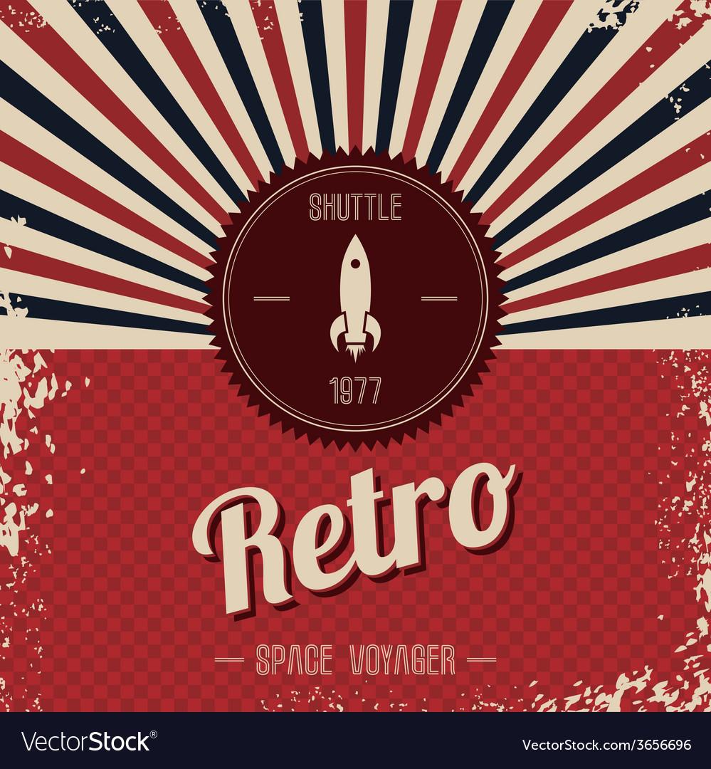 Retro space rocket template theme vector   Price: 1 Credit (USD $1)