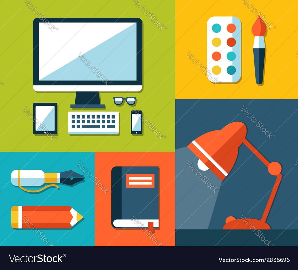 School flat design composition vector | Price: 1 Credit (USD $1)
