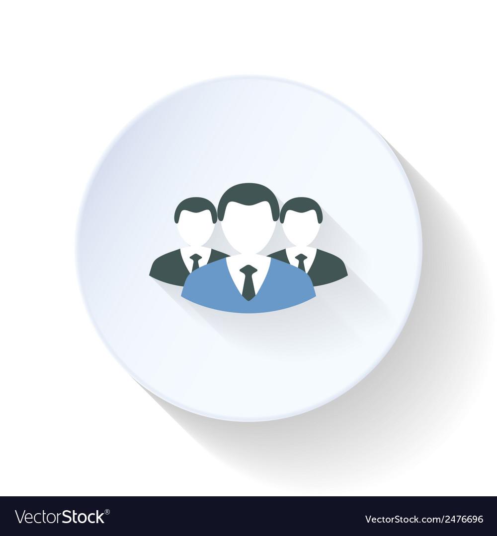Superiors and subordinates flat icon vector | Price: 1 Credit (USD $1)