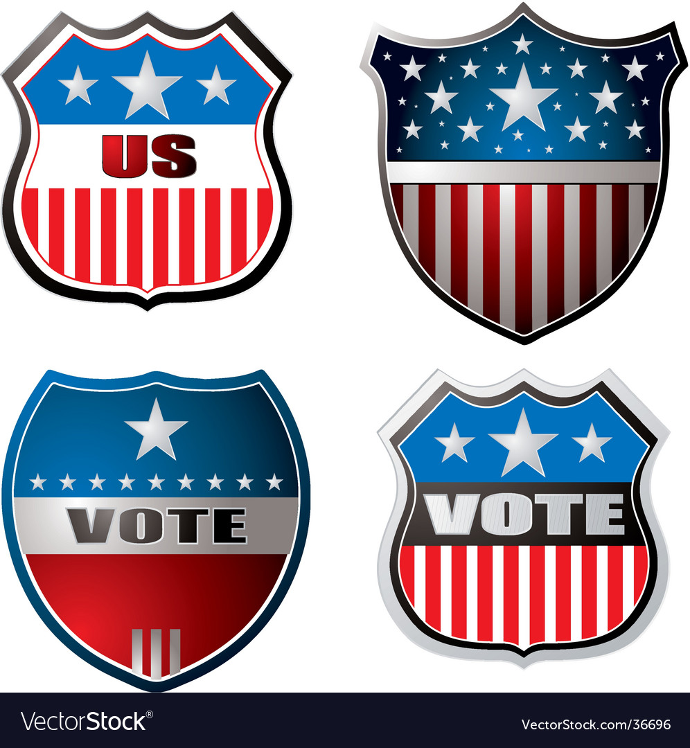 Vote shield vector | Price: 1 Credit (USD $1)