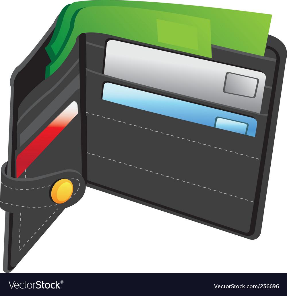 Wallet vector | Price: 3 Credit (USD $3)