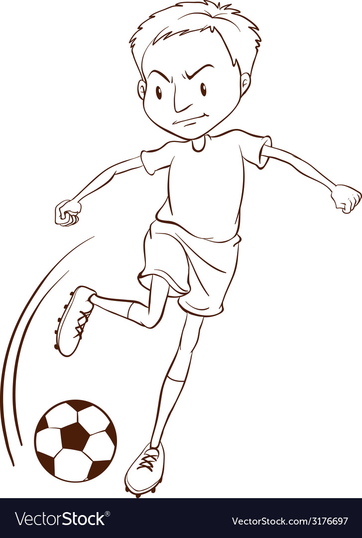 A plain sketch of a soccer player vector | Price: 1 Credit (USD $1)
