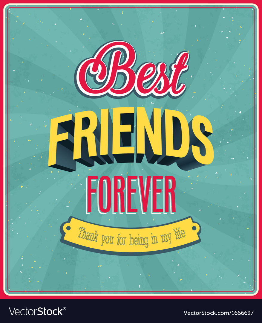 Best friends forever typographic design vector | Price: 1 Credit (USD $1)