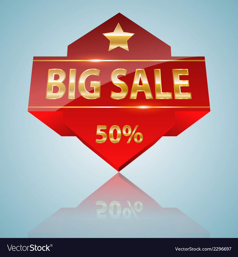 Big sale icon vector | Price: 1 Credit (USD $1)