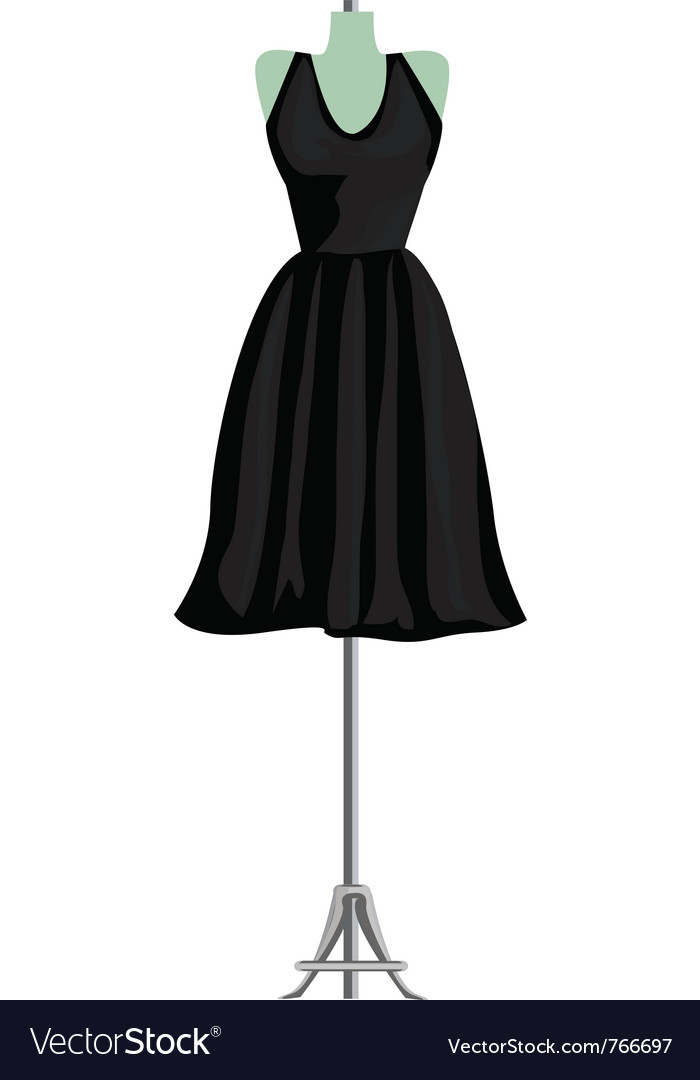 Black dress vector | Price: 1 Credit (USD $1)