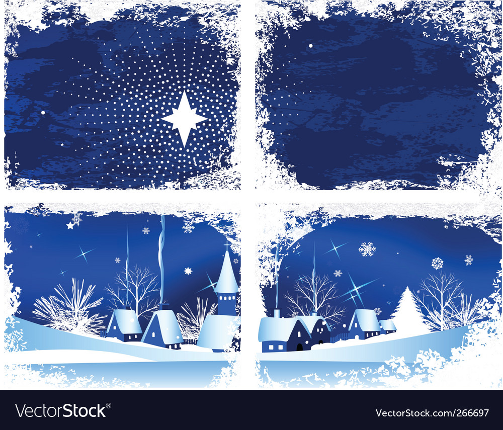 Christmas window vector