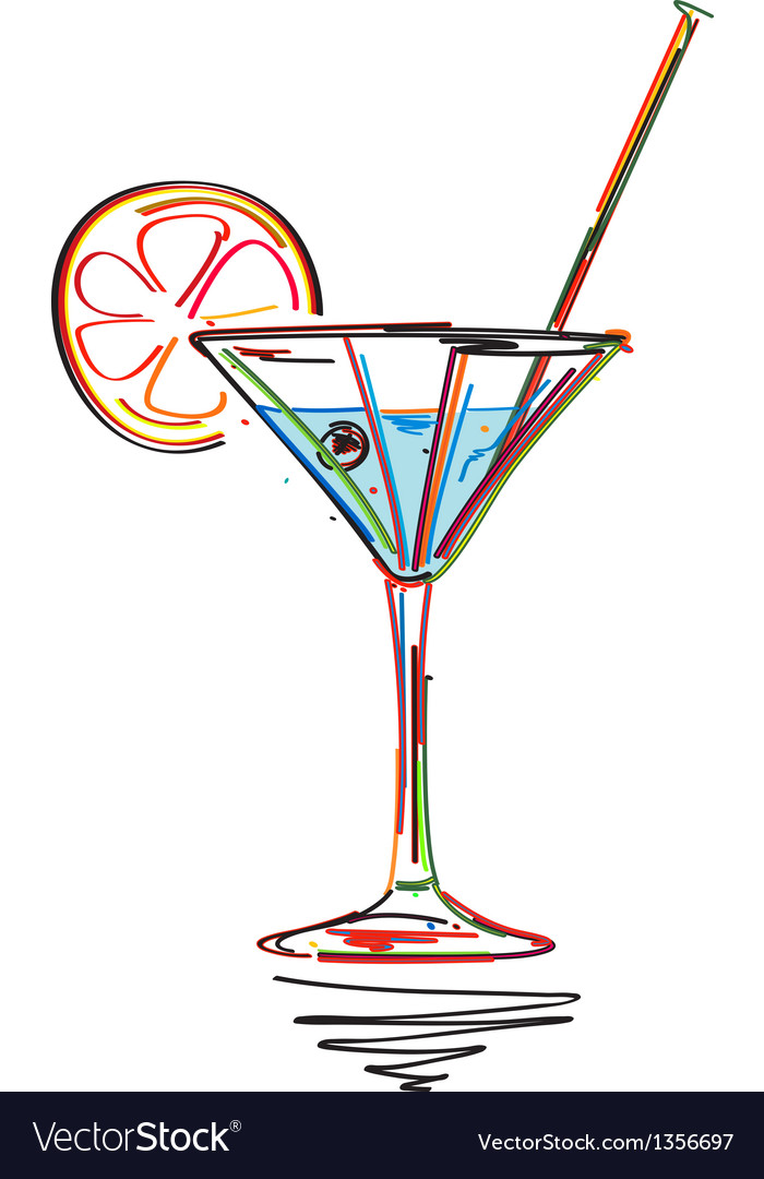 Cocktail menu card vector | Price: 1 Credit (USD $1)