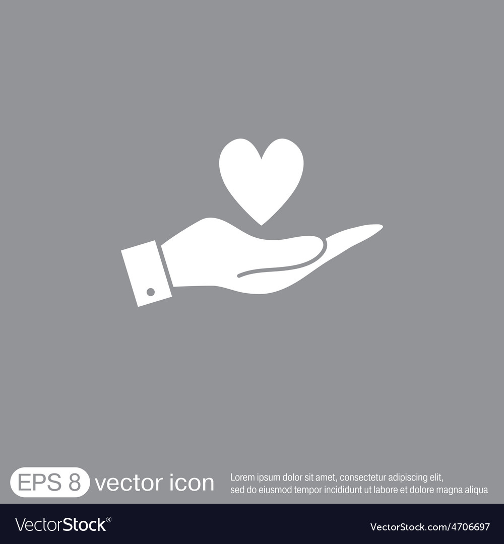 Hand holding a heart symbol vector | Price: 1 Credit (USD $1)