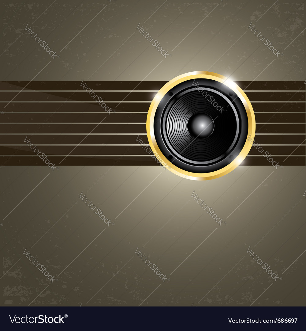 Modern music background vector | Price: 1 Credit (USD $1)