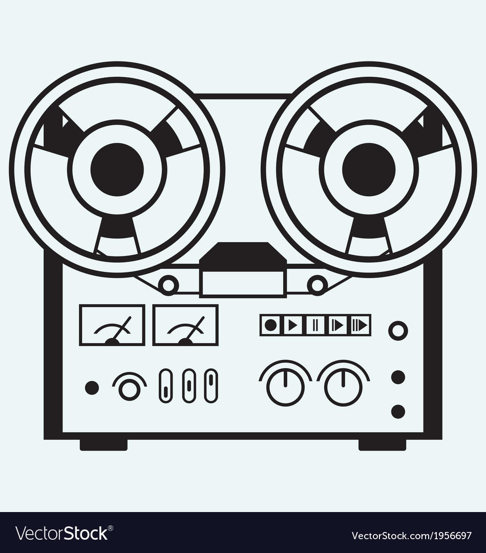 Reel tape recorder vector | Price: 1 Credit (USD $1)