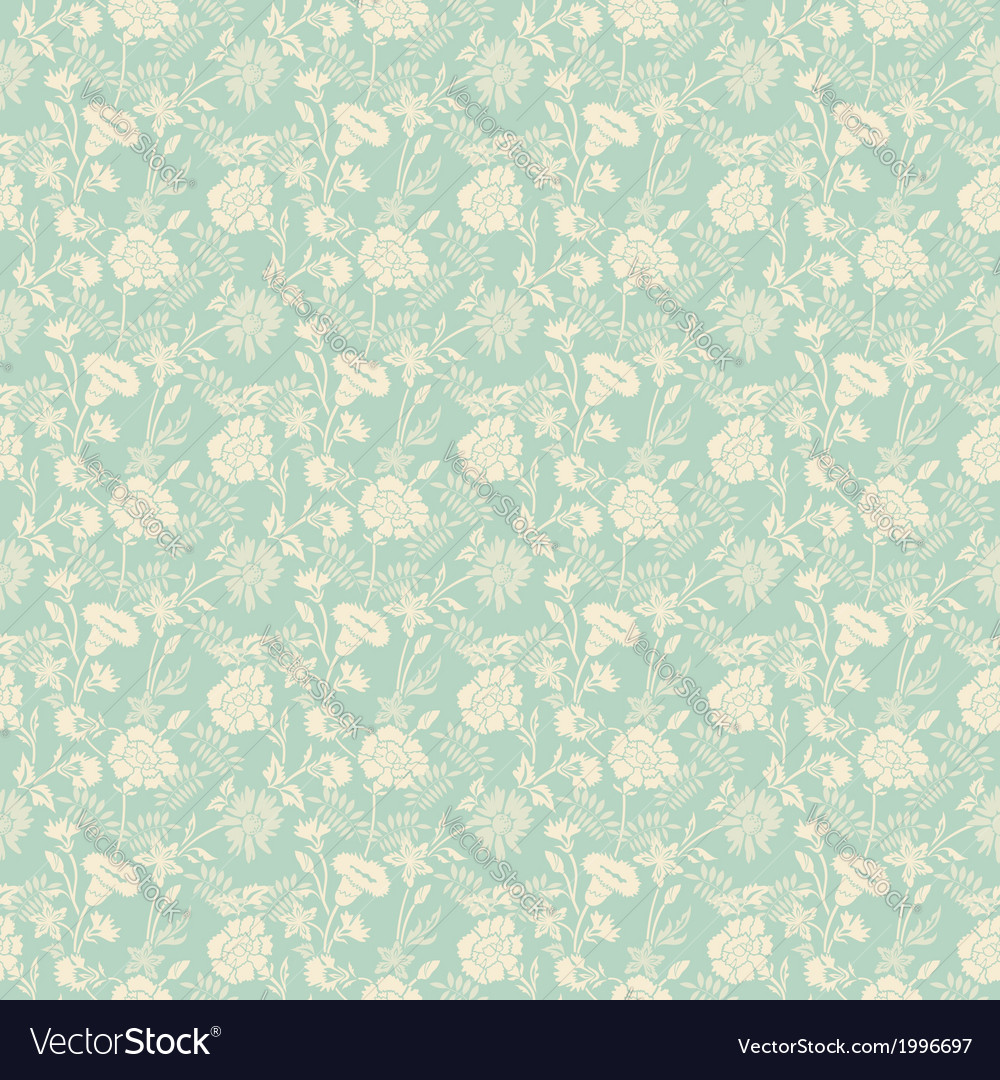 Seamless abstract floral pattern background vector | Price: 1 Credit (USD $1)