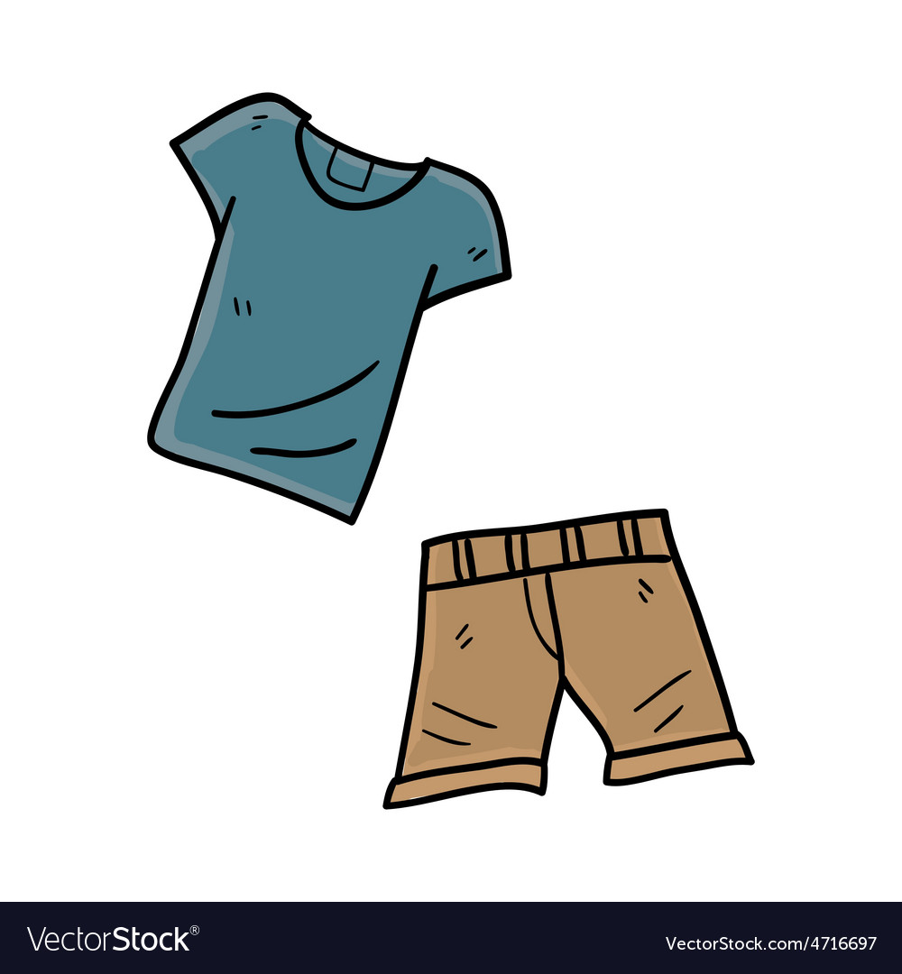 Shirt with shorts hand drawn vector | Price: 1 Credit (USD $1)