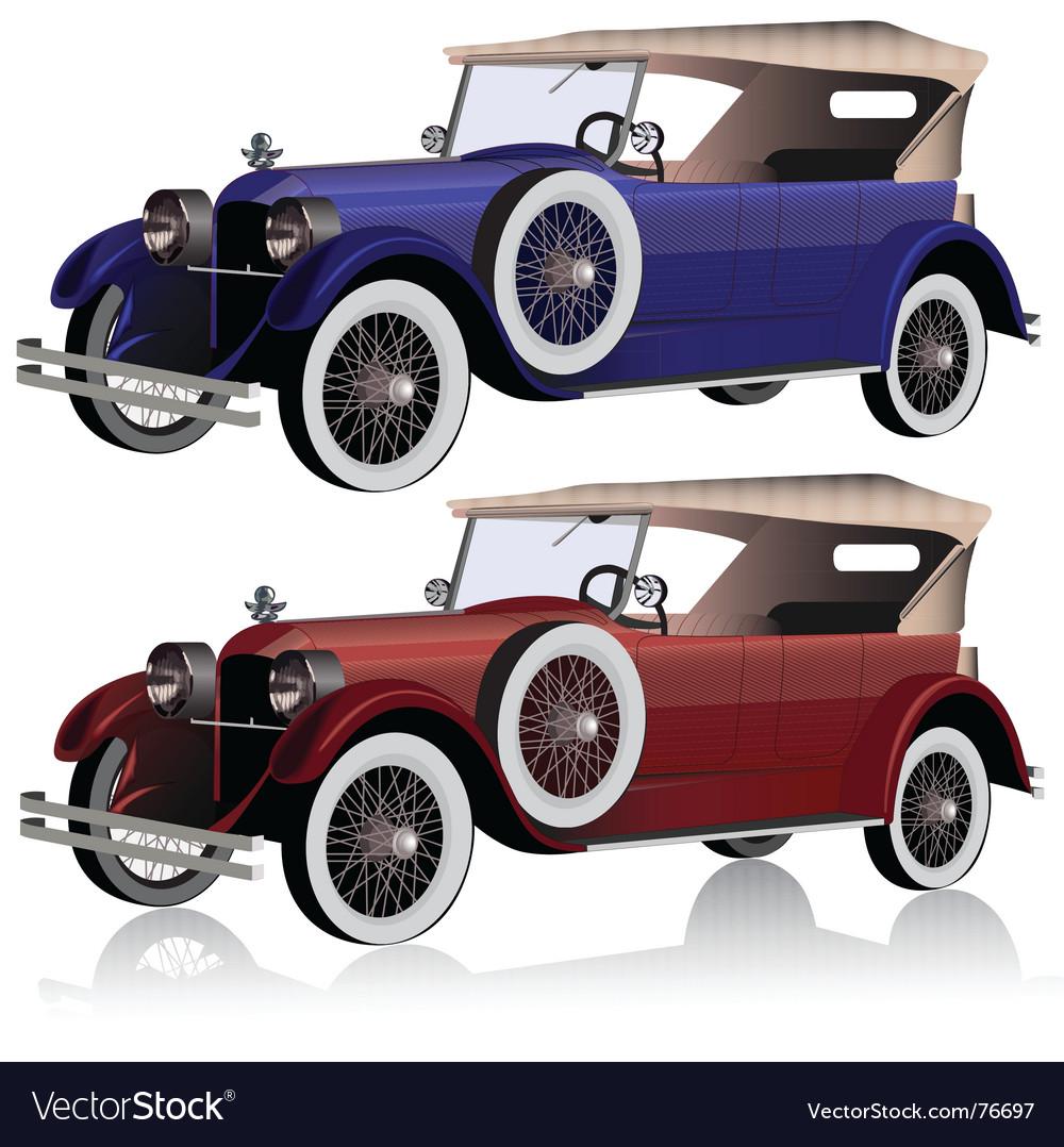 Vintage cars vector | Price: 3 Credit (USD $3)