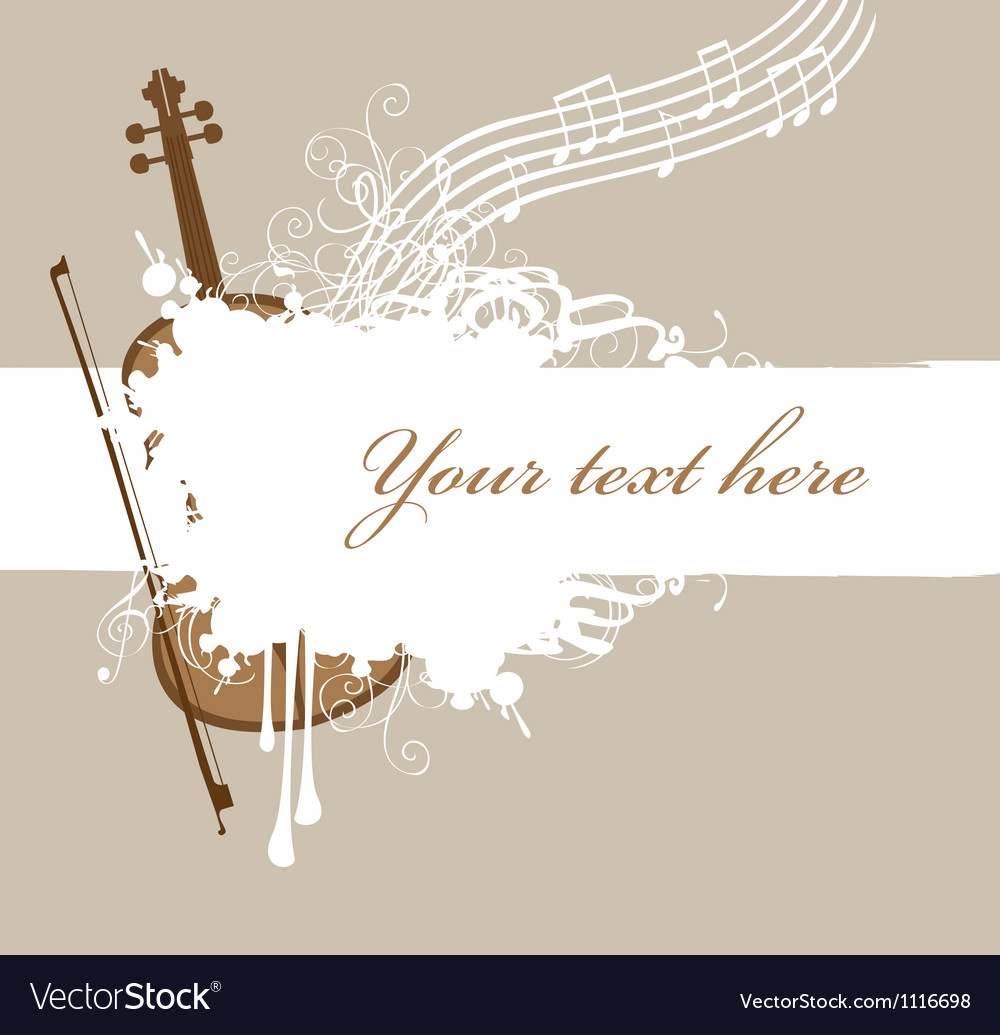 Background violin vector | Price: 1 Credit (USD $1)