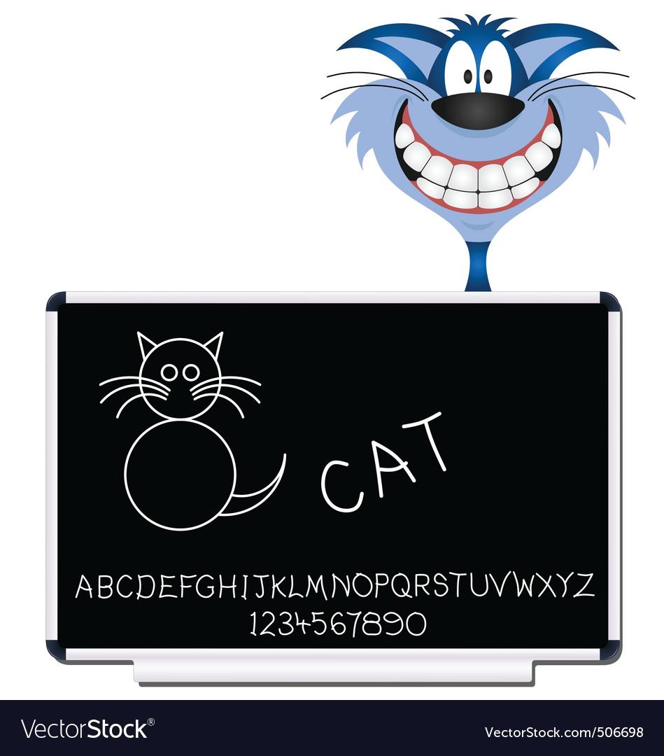 Cat blackboard vector | Price: 1 Credit (USD $1)