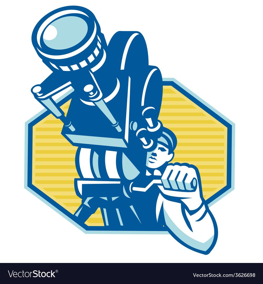 Film camera cinematographer vector | Price: 1 Credit (USD $1)