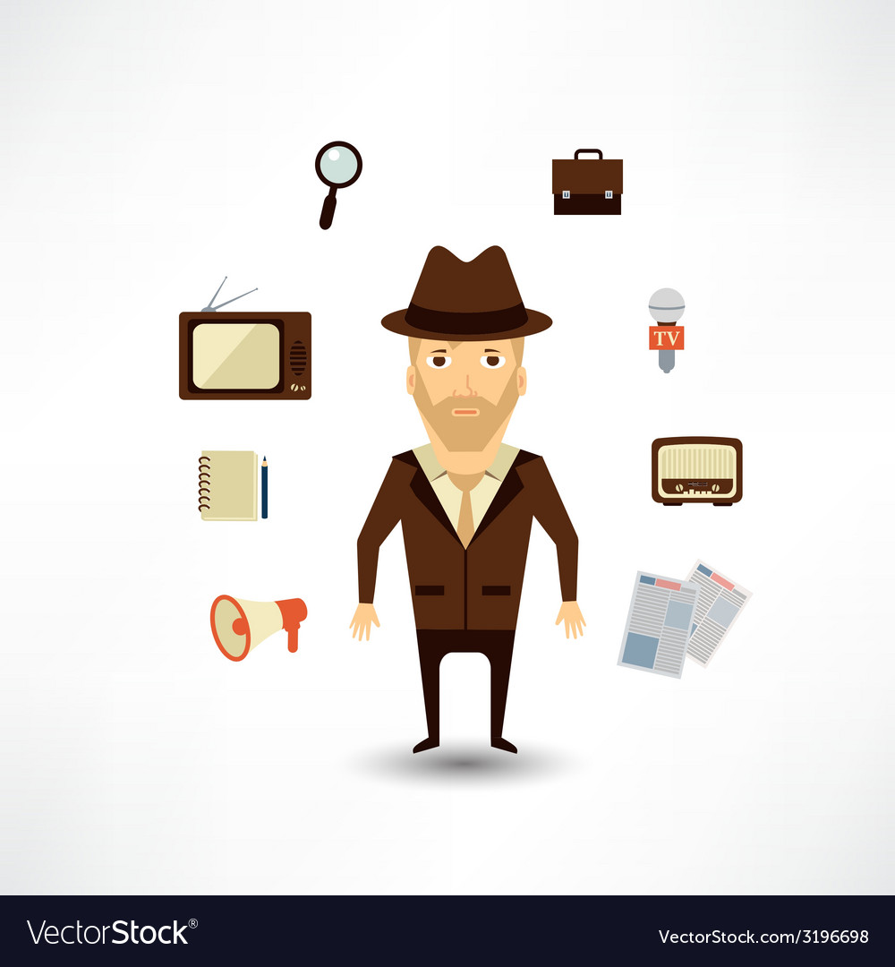 Journalist vector
