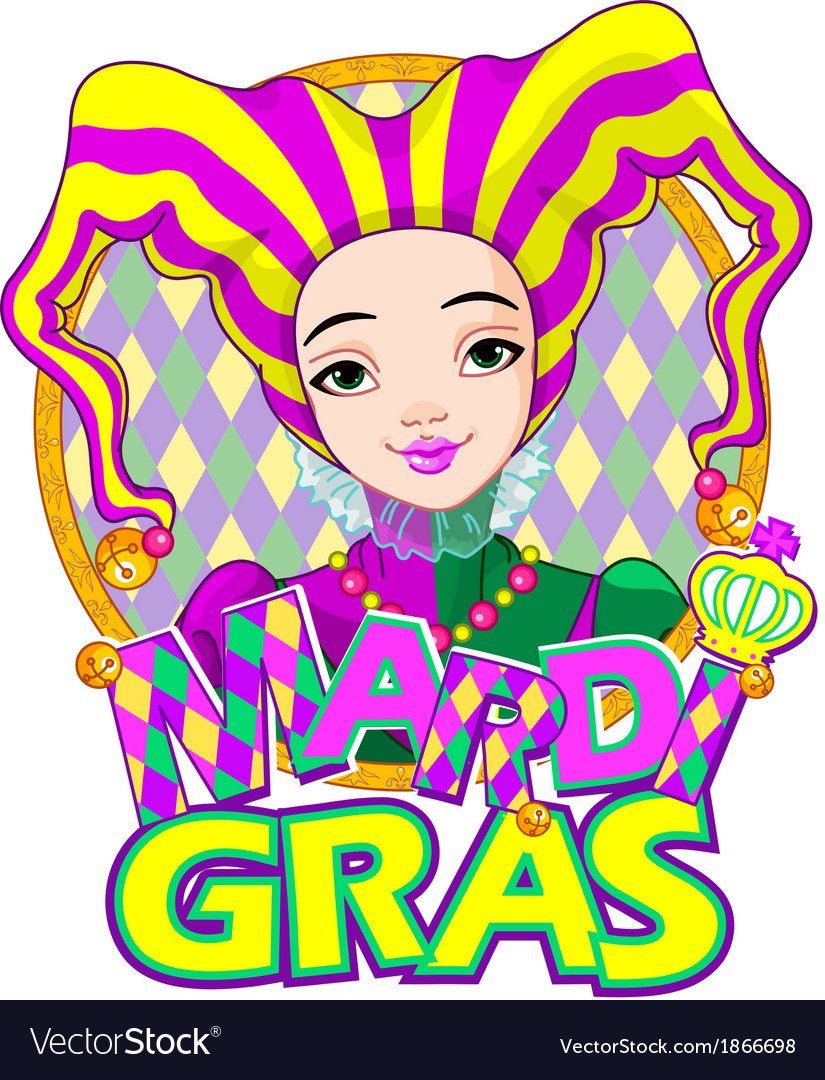 Mardi gras harlequin design vector | Price: 3 Credit (USD $3)