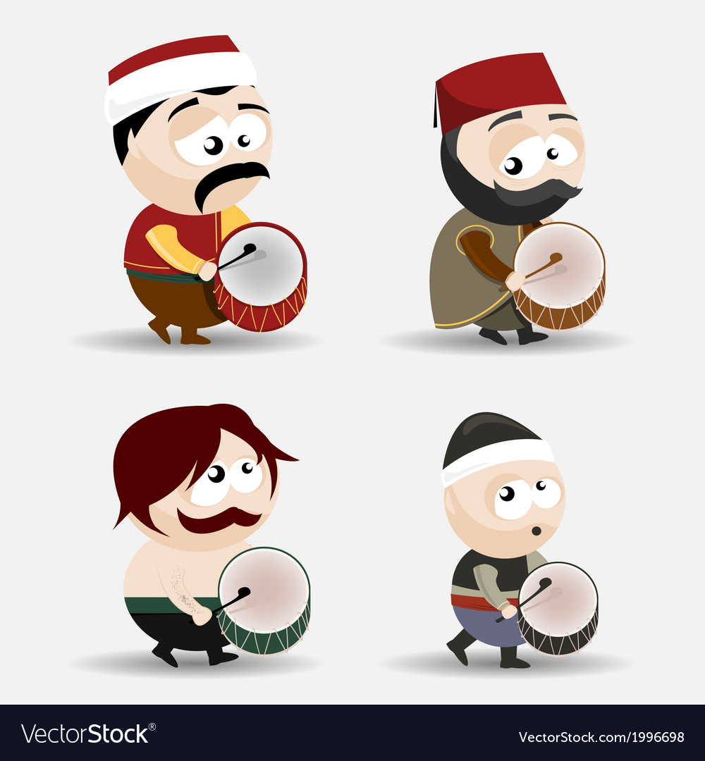 Ramadan drummers vector | Price: 1 Credit (USD $1)