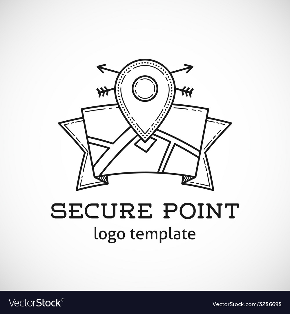Safe shield point abstract logo template vector | Price: 1 Credit (USD $1)