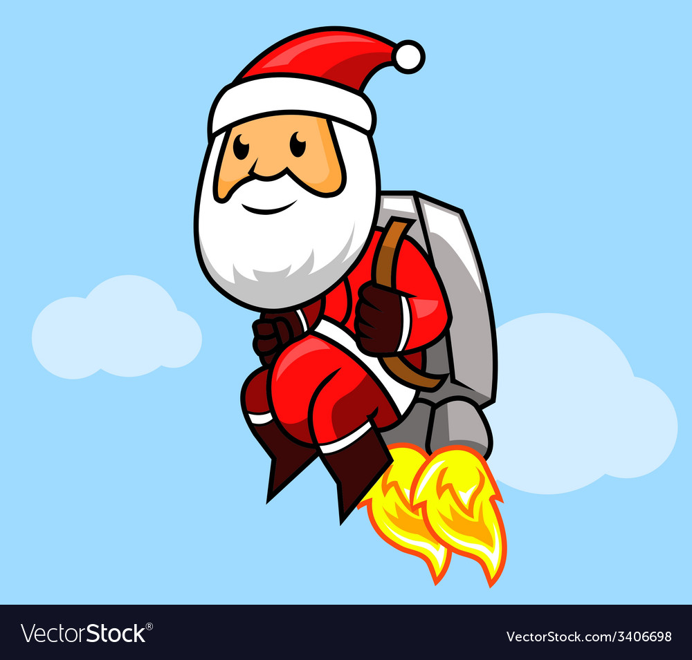Santa jetpack vector | Price: 1 Credit (USD $1)