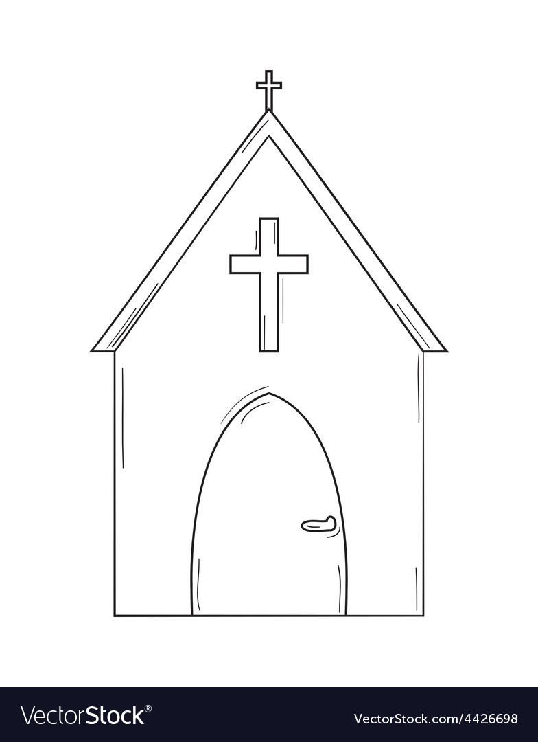 Sketch of the church vector | Price: 1 Credit (USD $1)