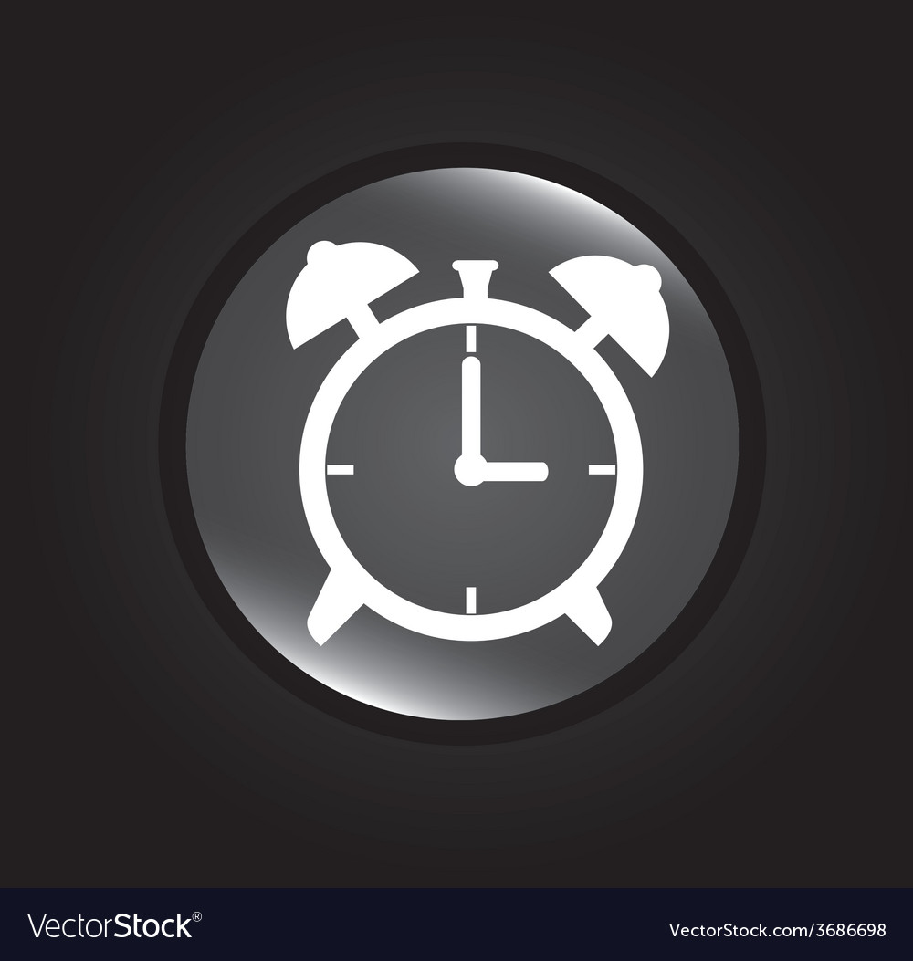 Time design over black background vector | Price: 1 Credit (USD $1)