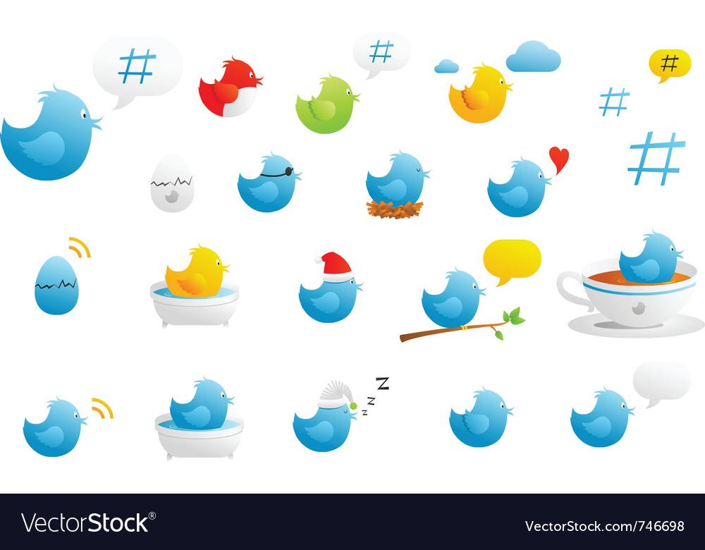 Tweety birds vector | Price: 1 Credit (USD $1)