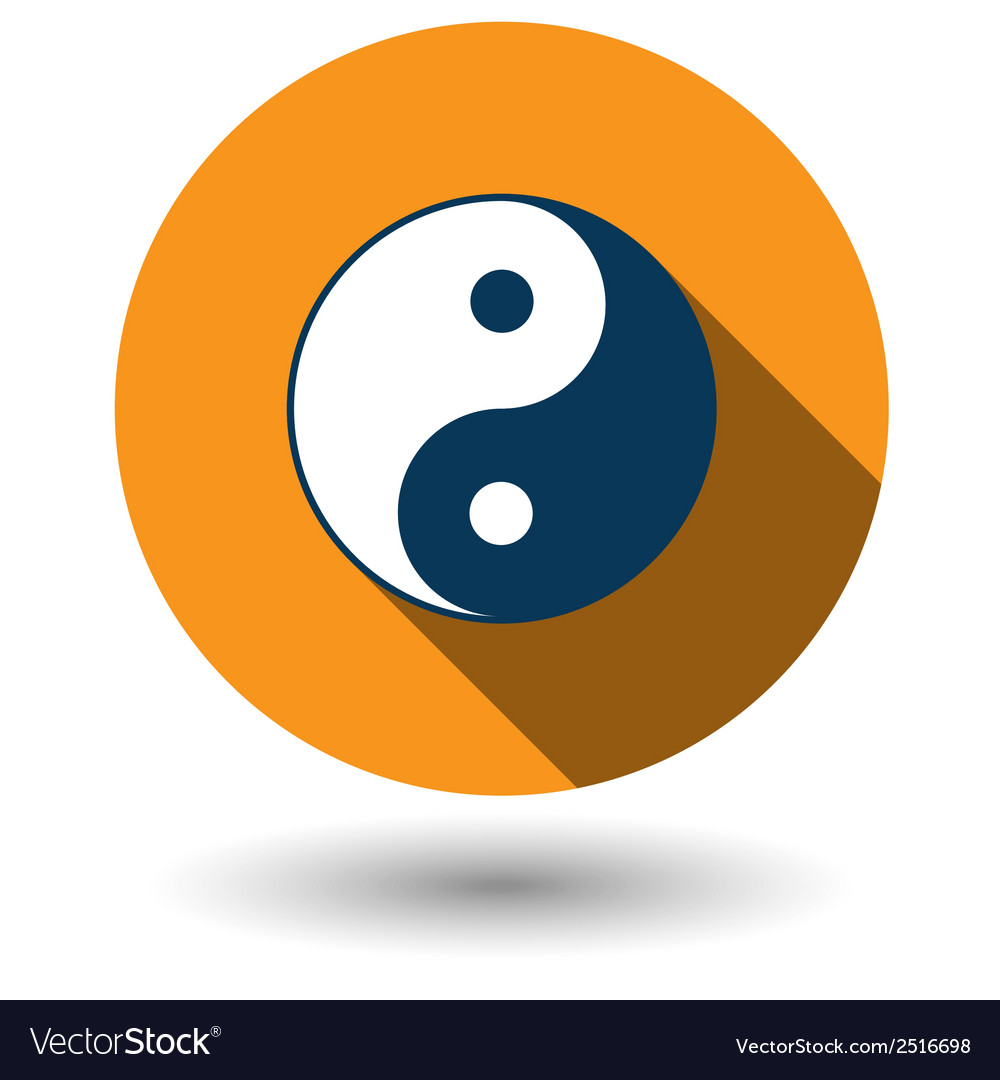 Ying yang icon in flat style vector | Price: 1 Credit (USD $1)
