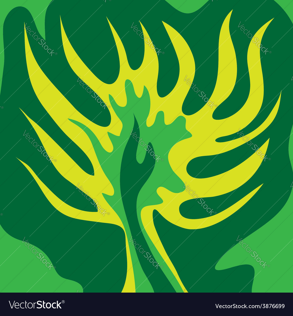 Abstract green tree green color vector | Price: 1 Credit (USD $1)