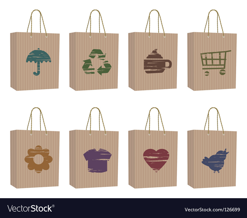 Bags with icons vector | Price: 1 Credit (USD $1)