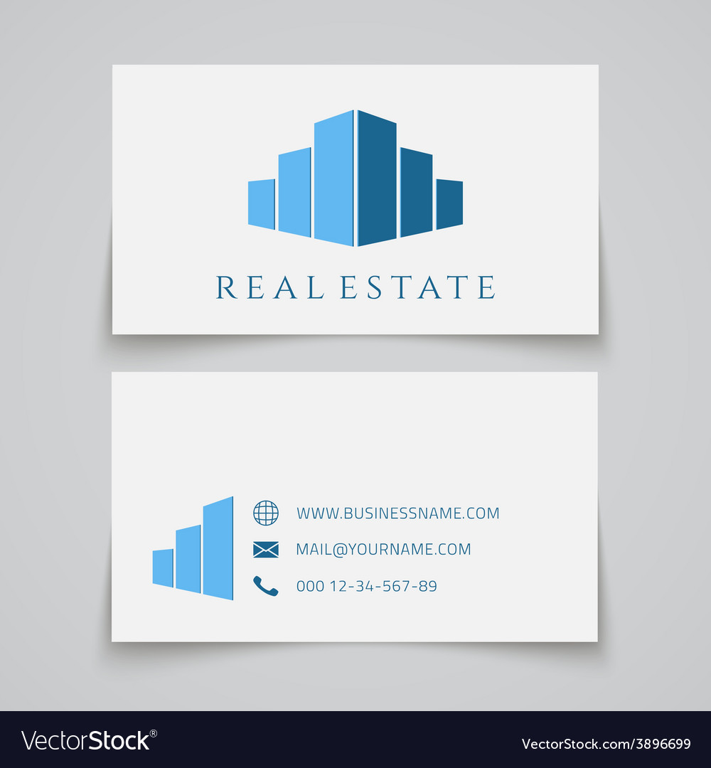 Busines card template real estate logo vector | Price: 1 Credit (USD $1)