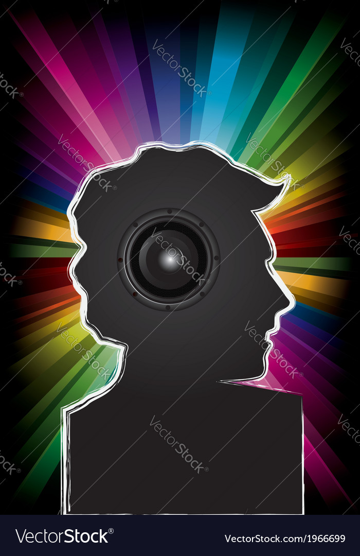Disco music party invitation vector | Price: 1 Credit (USD $1)