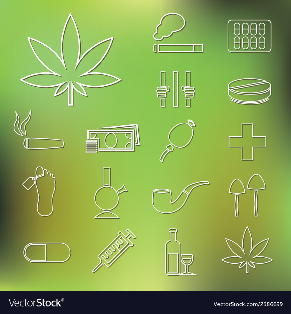 Drug outline icons vector | Price: 1 Credit (USD $1)