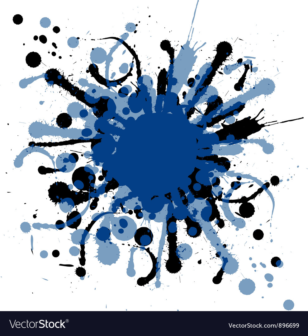 Grunge ink splat background blob vector | Price: 1 Credit (USD $1)