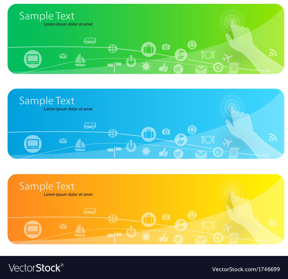 Modern banner vector | Price: 1 Credit (USD $1)