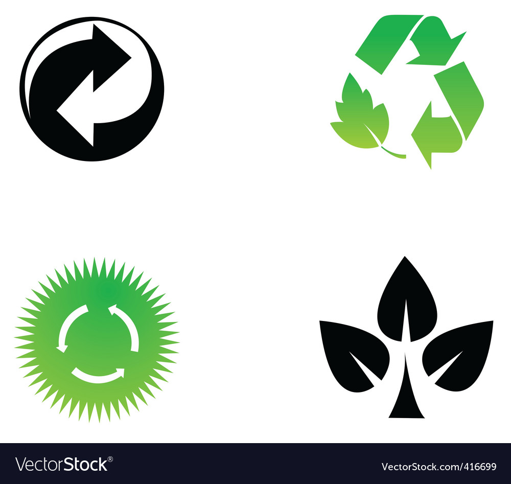 Recycle icons vector | Price: 1 Credit (USD $1)